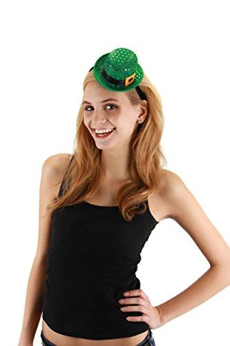 [elope Mini Leprechaun Sequin Hat, Green, One Size] (St Patrick The Saint Costume)