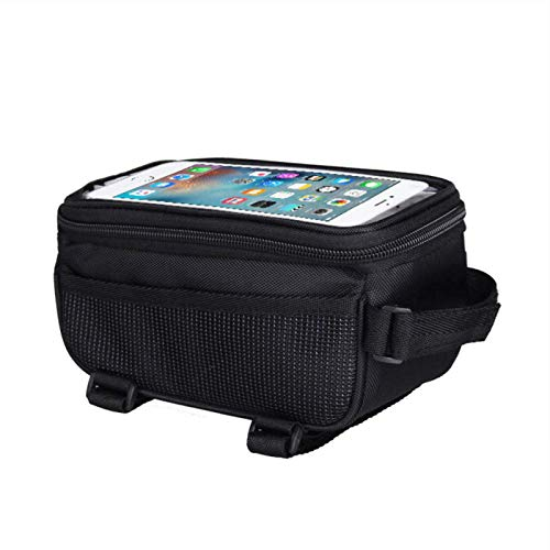 OneMoreT Bicycle Bike Cycling Front Frame Tube Handlebar Bag Waterproof For Mobile Phone 5.5Inch
