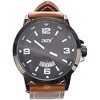 Men's Watches, THZY Waterproof Classic Casual Business Fashion Analog Quartz Wrist Watch with Calendar Date Window...