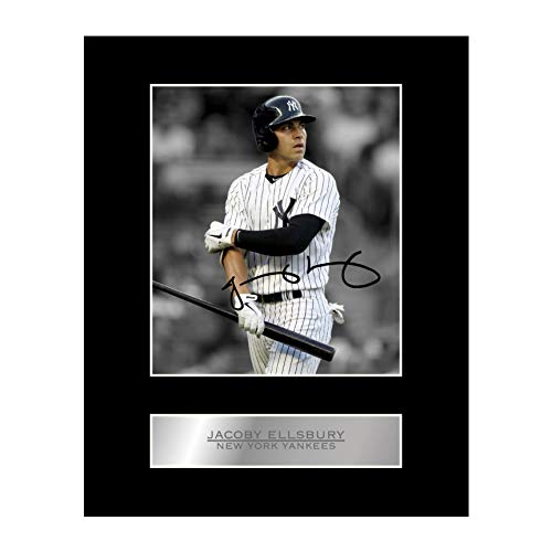 Jacoby Ellsbury Signed Mounted Photo Display New York Yankees MLB Autographed Gift Picture Print