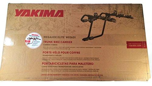 yakima megajoe elite 3 bike trunk rack