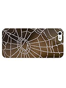 iPhone 5&5S Case - Photography - Dew Drops On Spider Web 3D Full Wrap