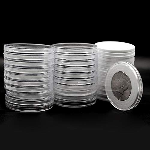 20 Pcs Clear Plastic Coin Capsules, Coin Collection Case of 5 Size with Adjustable Gasket for Coin Collection American Silver Eagle Liberty Coin &JFK Half Dollar | 20/25/30/35/40mm from Jackyxcm