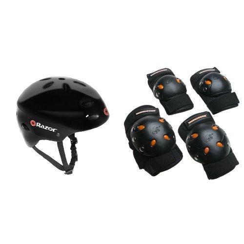 Razor V-17 Youth Multi-Sport Helmet (Razor Black Helmet)