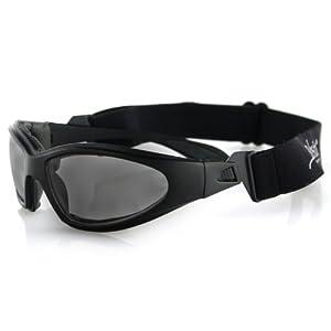 Bobster GXR Sport Sunglasses, Black Frame/Smoked Anti-fog Lens