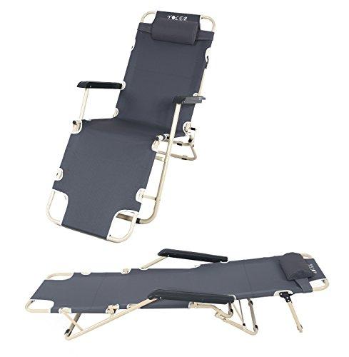 Yoler Patio Lounge Chair Beach Chair Outdoor Breathable
