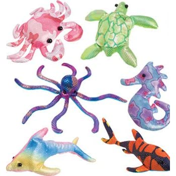 Amazon Com Colorful Glitter Sand Animals Toss Toy Set Of