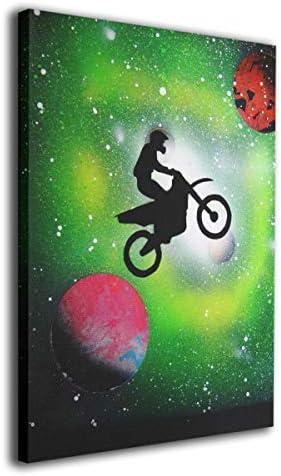 K-Duck オートバイ 飛躍 アートパネル アートフレーム アートポスター Art キャンバス絵画 壁掛け インテリア 現代