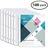 MAKHISTORY Clear Sheet Protectors - 100pcs, 8.5 x 11 inch Page Protectors for 3 Ring Binder, Top Loading, Non-Glare, Archival Safe, Letter Size