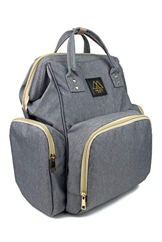 Diaper Bag Backpack for Mom & Dad: Waterproof Baby Bags for Girls & Boys, Grey