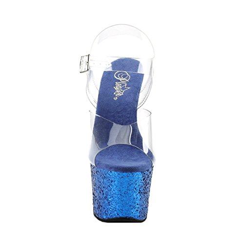 Blue Glitter Compensée 801 Semelle Et Clr Flamingo Talons Femme Pleaser 7qw8xTSzx