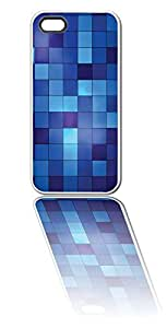 Blue Pixels White Silicone Case for iPhone 6 Plus (5.5 inch) i6+