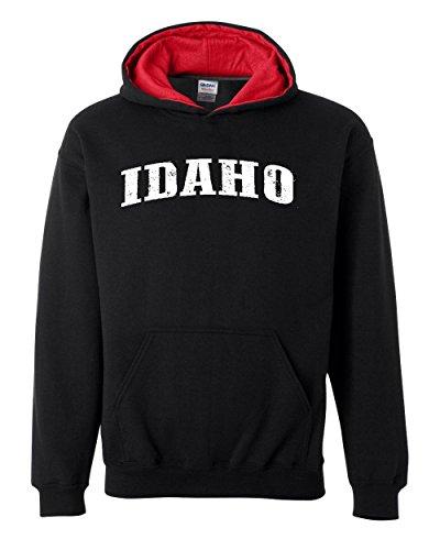 Idaho Vandal Sweatshirt (Ugo ID Idaho Flag Boise Yellowstone Map Home of Vandals University of Idaho Contrast Color Unisex Hoodie)