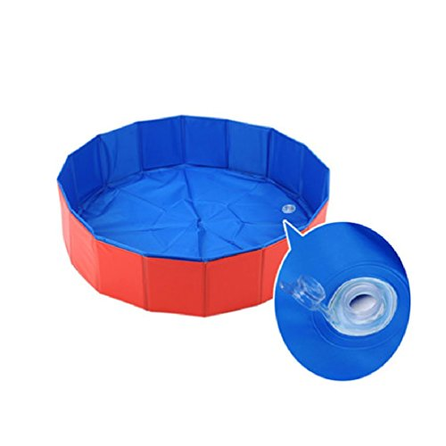 Waterproof Pet Dog Cat Pvc Washing Pond Dog Tub Bed Foldable Pet Play Swimming Pool Cats Dogs Bathing Bathtub by Defonia Petsupplies