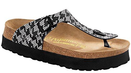Birkenstock Women's Gizeh Platform Knotted Black Birko-Flor? Sandal 38 (US