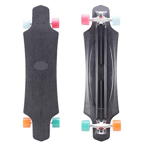 Playshion 39 Inch Drop Through Freestyle Longboard Skateboar