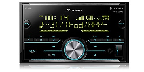 Pioneer MVH-S600BS Double Din Digital Media Receiver with Enhanced Audio Functions, Improved Pioneer ARC App Compatibility, MIXTRAX, Built in Bluetooth, and SiriusXM Ready (Best Value Double Din Car Stereo)