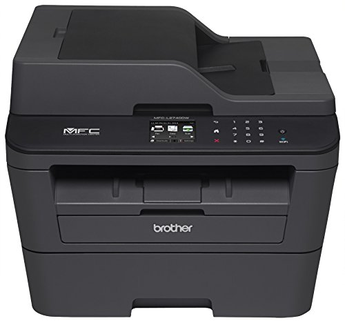 Brother MFCL2740DW Wireless Monochrome Printer with Scanner, Copier and Fax, Amazon Dash Replenishment Enabled by Brother
