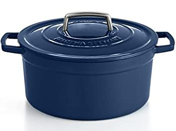 Martha Stewart Cobalt Blue Enameled Cast Iron 6 Qt. Round Dutch Oven Casserole