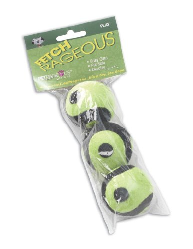 Petrageous Pet Toy Karmaballs 3-Pack, Medium Sized Tennis Ba
