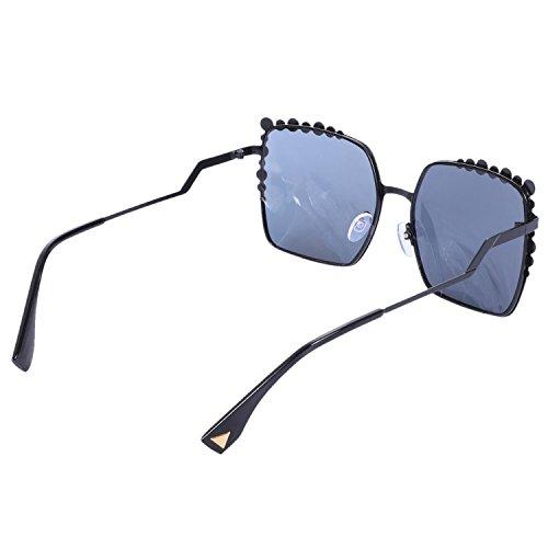 Square Pink Vintage sol tamano de Mujer Gradient de de Negro Big Gafas Mujeres Gafas Sol Mirror Ladies Fashion UV400 SODIAL Eyewear gran AFqB5wRcO
