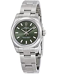 Lady Oyster Perpetual 26 Olive Green Dial Stainless Steel Rolex Oyster Automatic Watch 176200OVSO