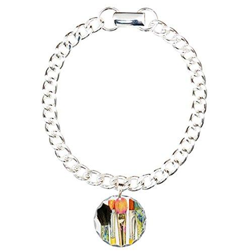 CafePress Artist Paint Brushes 02 Charm Bracelet Pendant