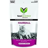 VetriScience Laboratories Hairball Digestive Support Chicken Liver Flavored 60 Soft Chews for Cats