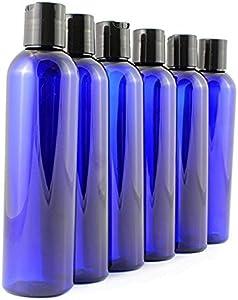 8 oz Empty Cobalt Blue Plastic Cosmo Squeeze Bottles with...