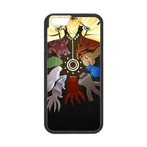 Naruto 013 funda iPhone 6 Plus 5.5 Inch Negro de la cubierta del teléfono celular de la cubierta del caso funda EOKXLKNBC21782