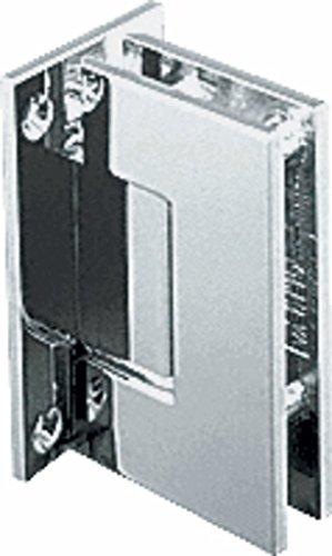 CRL Geneva 537 Series Polished Nickel Wall Mount Full Back Plate Standard Hinge with 5186; ()