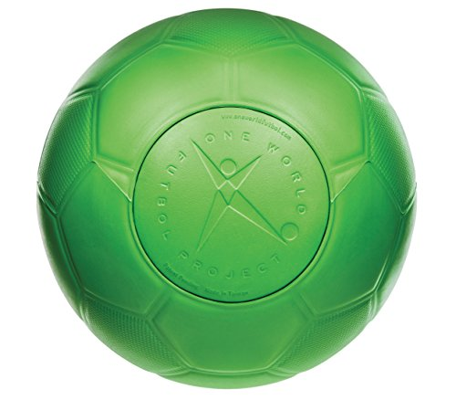 Green Durable Soccer Ball: One World Futbol (Size 4)