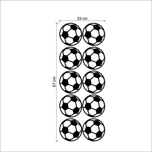 WLGOOD 10 piezas de fútbol personalizado balón de fútbol etiqueta ...