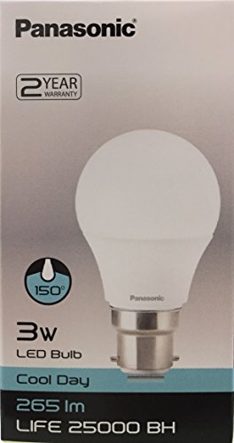 Panasonic 3W B22 265L 6500K LED Bulb (White)