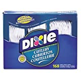 Dixie Combo Pack, Tray w/Plastic Forks, Knives, Spoons, 168 Utensils (DXECM168)