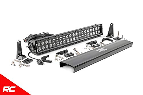 """Rough Country 20"""" Black Series Dual Row CREE LED Light Bar Fits Anywhere You Can Mount 70920BL Cree LED Light Bar Dual"""