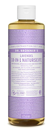 Dr Bronners Magic Soap All One Csla16/76416 16 Oz Lavender Dr. Bronner'S Pure Castile Liquid - Soap All Lavender 1