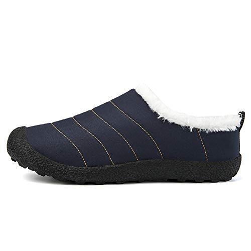 H Foncé Neige De Boots Imperméable Homme Bottes Fourrées bleu Hiver Chaussures mastery Chaudes L Femme f6rfgwn1q