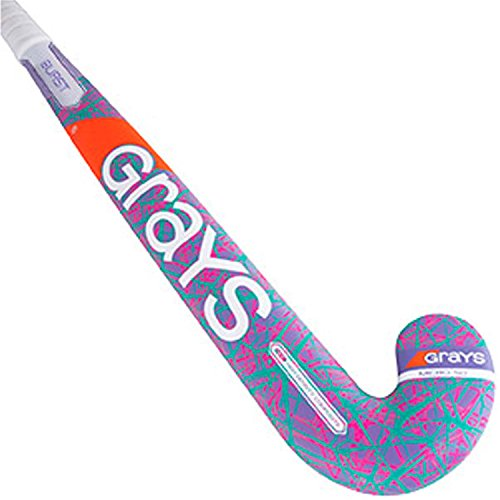 GRAYS Burst Field Hockey Stick Purple/Pink/Teal 35 INCHES