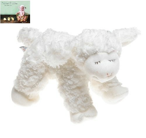 Gund Winky Lamb Baby Rattle Stuffed Animal Bundle Two Items ENESCO Larger Size and Premium Folding Greeting Card by Kimberly Anderson Collection