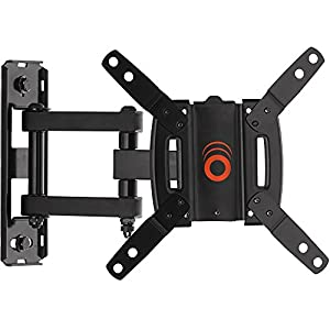 "ECHOGEAR Full Motion Articulating TV Wall Mount Bracket for Most 15-39 inch TVs & Computer Monitors Featuring 10.5"" of Extension, 90º of Swivel, 16º of Tilt - EGSF1-BK"