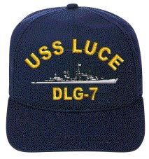 Luce Cap (USS LUCE DLG-7 EMBROIDERED SHIP)