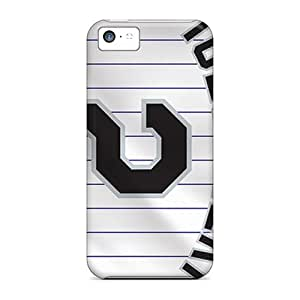 Shockproof Cell-phone Hard Covers For Iphone 5c (rML15096rSTw) Support Personal Customs High-definition Colorado Rockies Pattern