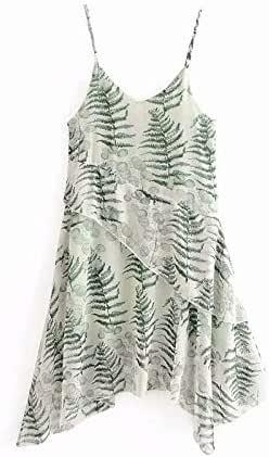 Fashion Women Irregular Summer Beach Sling Dress Adjustable Strap Hawaiian Style Oversize Breathable Chiffon Dress