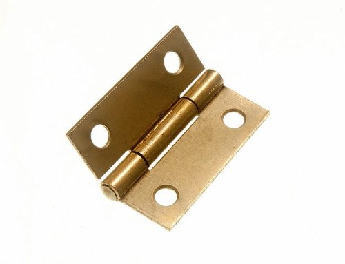 100 Pairs Butt Hinge ( Door Box ) Eb Brass Plated Steel 38Mm 1 1/2 Inch by DIRECT HARDWARE