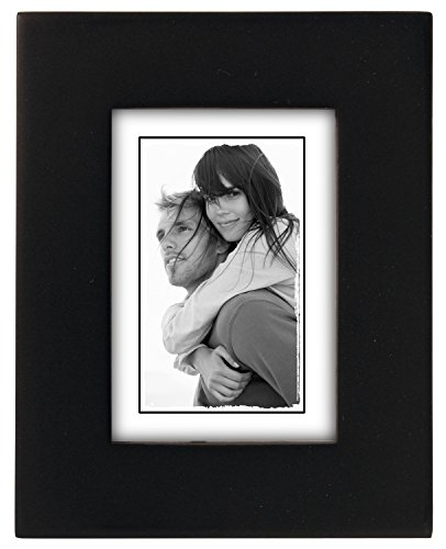 Malden International Designs Linear Classic Wood Picture Frame, 2x3, Black