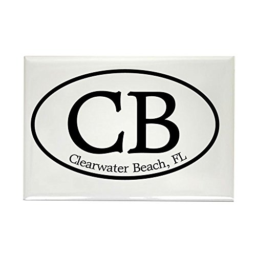 CafePress - CB.Clearwater Beach.white Rectangle Magnet - Rectangle Magnet, 2