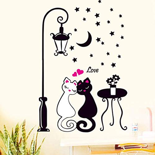 Wall Stickers, E-Scenery Cat Lovers Peel and Stick DIY 3D Wall Decals Mural Art Wallpaper for Kids Room Home Nursery Party Window -