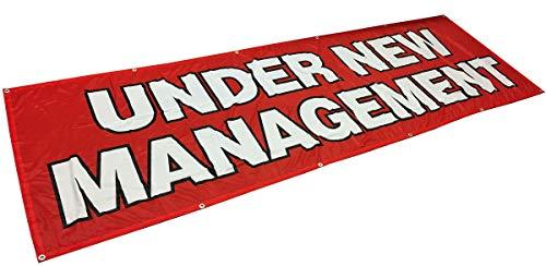 - 4Less 3x10 Ft Under New Management Banner Vinyl Alternative Sign Fabric rb