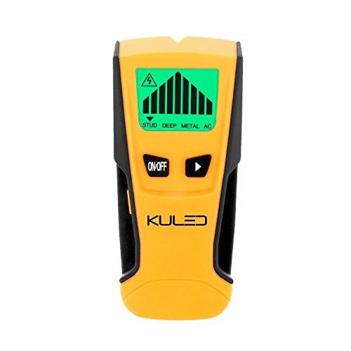 Stud Finder, 3 in 1 Multi-Function Wall Stud Sensor Detector with LCD Display and Sound Warning for AC Live Wire, Wood, Metal, Deep Scanning Kuled M79 by KULED